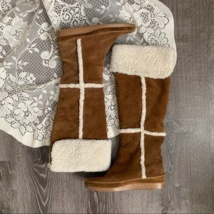 MK MICHAEL KORS | Tall Suede Sherpa Lined Boots